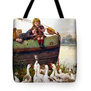 Taunting The Geese Tote Bag