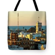 Tavira Tower And Post Office From West Tower Cadiz Spain Tote Bag
