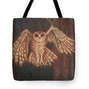 Tawny Owl In Flight Tote Bag
