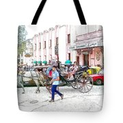 Taxi Battle At The Floridita Tote Bag