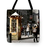 Taxi Booth Tote Bag