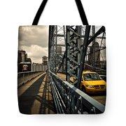 Taxi Crossing Smithfield Street Bridge Pittsburgh Pennsylvania Tote Bag