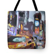 Taxi On Broadway Tote Bag