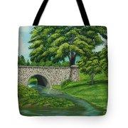 Taylor Lake Stone Bridge Tote Bag