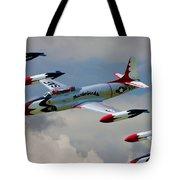 Tbirds Lockheed T-33 Shooting Star Tote Bag