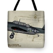 Tbm-3 Avenger Profile Art Tote Bag