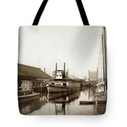 T.c. Walker Paddle Riverboat City Of Stockton Riverboat And Kath Tote Bag