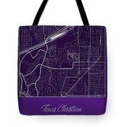 Tcu Street Map - Texas Christian University Fort Worth Map Tote Bag