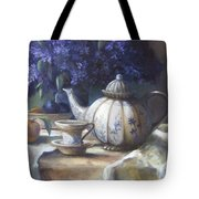 Tea And Lilacs Tote Bag