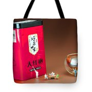 Tea Drinking In A Family Little People Big World Tote Bag