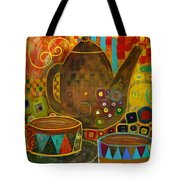 Tea Party With Klimt Tote Bag