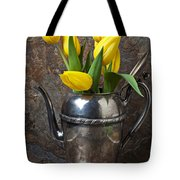 Tea Pot And Tulips Tote Bag