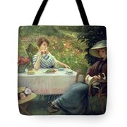 Tea Time Tote Bag by Jacques Jourdan