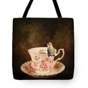Tea Time With A Hummingbird Tote Bag