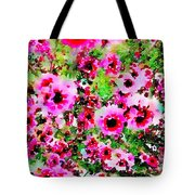 Tea Tree Garden Flowers Tote Bag