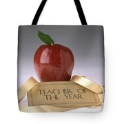 Teacher Of The Year Award Poster Tote Bag