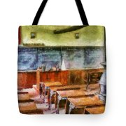 Teacher - Pay Attention In Class Tote Bag by Mike Savad