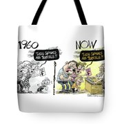 Teachers Then And Now Tote Bag