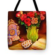 Teacup And Roses Tote Bag