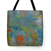 Teal Abstract, A New Look Again Tote Bag