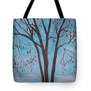 Teal And Brown Tote Bag