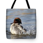 Teal Awash Tote Bag