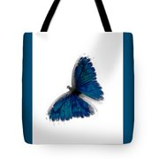 Butterfly Blur In Teal Blues Tote Bag