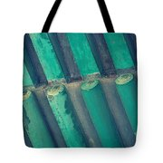 Teal Chinese Ceiling Tote Bag