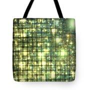 Teal Gold Cubes Tote Bag