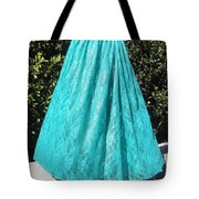 Teal Green Lace Skirt. Ameynra By Sofia Tote Bag