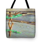 Teal Reflections Tote Bag