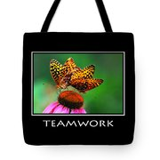 Teamwork Inspirational Motivational Poster Art Tote Bag by Christina Rollo