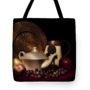 Teapot With Fruit Still Life Tote Bag by Tom Mc Nemar