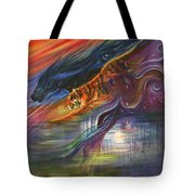 Tears Of The Tiger Tote Bag