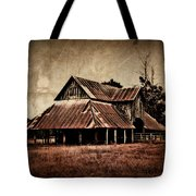 Teaselville Texas Barns Tote Bag