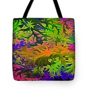 Technicolor Leaves Tote Bag