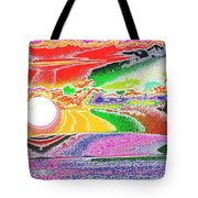 Technicolor Sunset Tote Bag