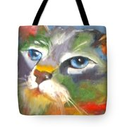 Technicolor Tabby Tote Bag