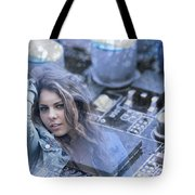 Technology Girl Tote Bag