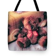 Teddy Bear And Suitcase Tote Bag