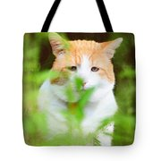 Teddy In The Garden Tote Bag