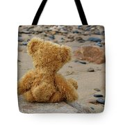 Teddy On A Beach Tote Bag
