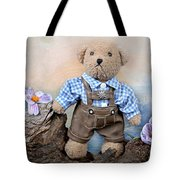 Teddy On Tour Tote Bag