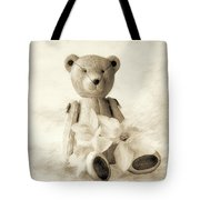 Teddy With Daffodils - Toned Tote Bag