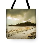 Teds Beach At Dusk Tote Bag