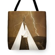 Tee Pee Lightning Tote Bag