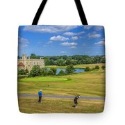 Teeing Off At Leeds Castle Tote Bag