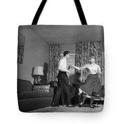 Teen Couple Dancing At Home, C.1950s Tote Bag