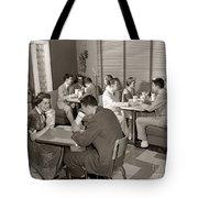 Teens At A Diner, C. 1950s Tote Bag