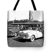 Teens At A Drive In 2 Tote Bag